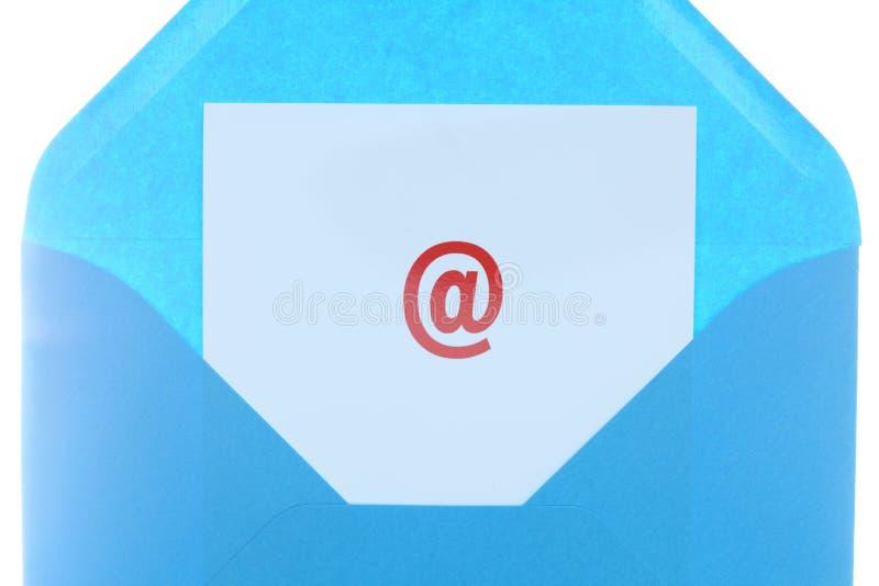 Símbolo do correio foto de stock