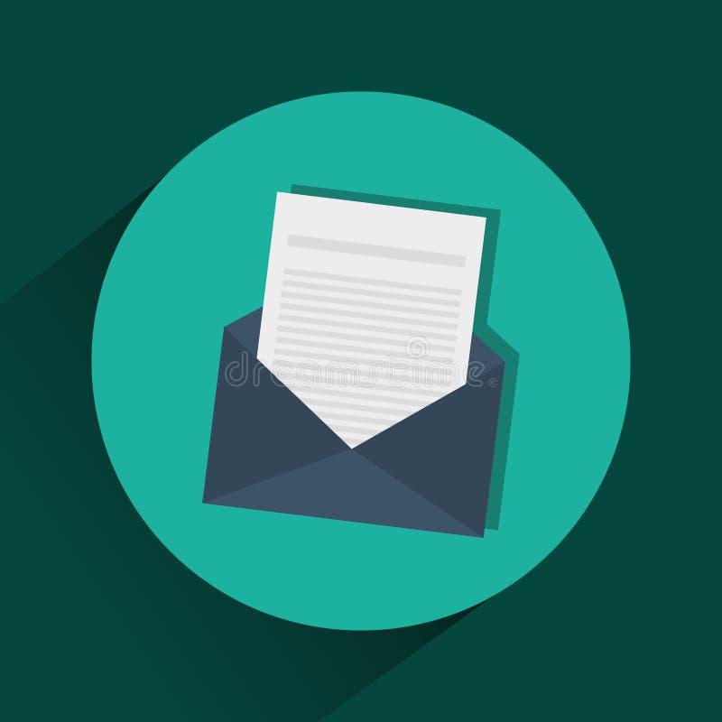 Símbolo do correio ou do email ilustração stock