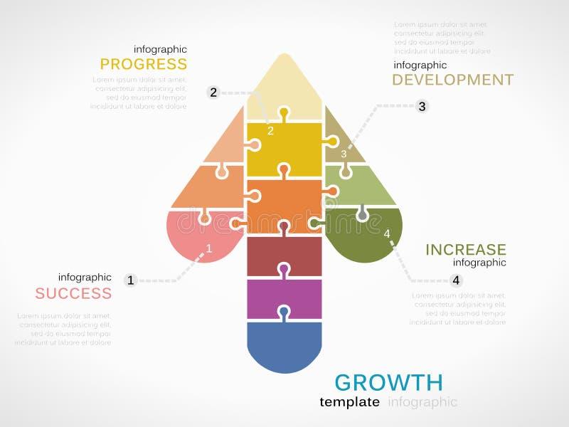 Símbolo do crescimento ilustração royalty free