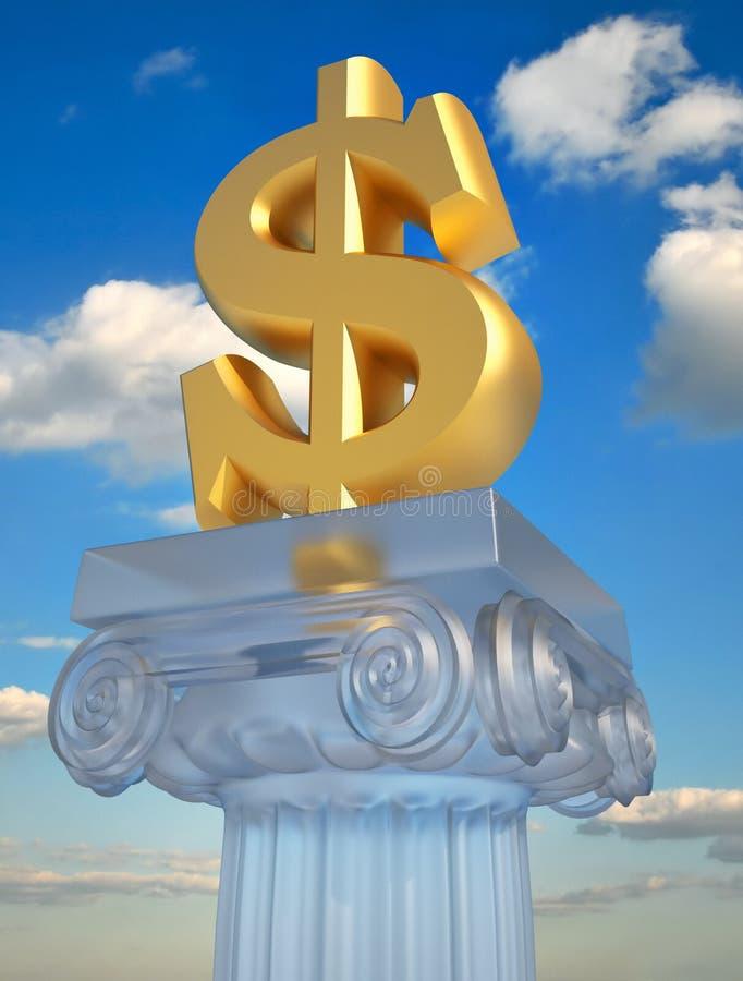 Símbolo do dólar ilustração stock