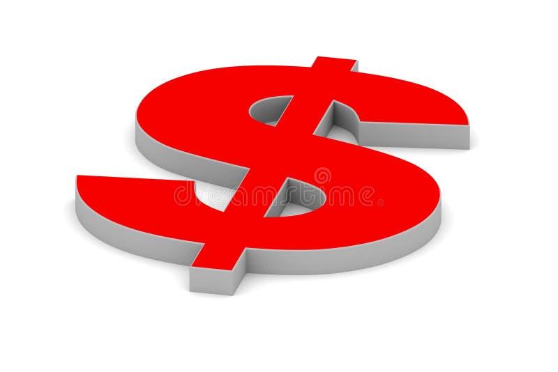 Símbolo do dólar ilustração do vetor