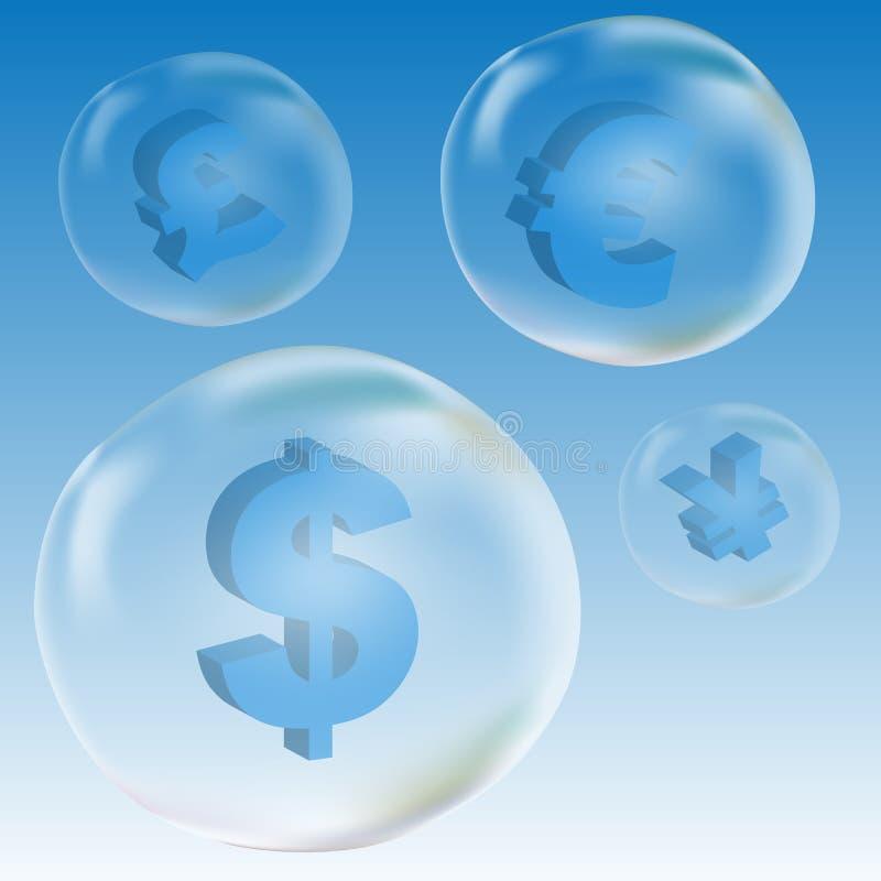 Símbolo do dólar na bolha ilustração royalty free