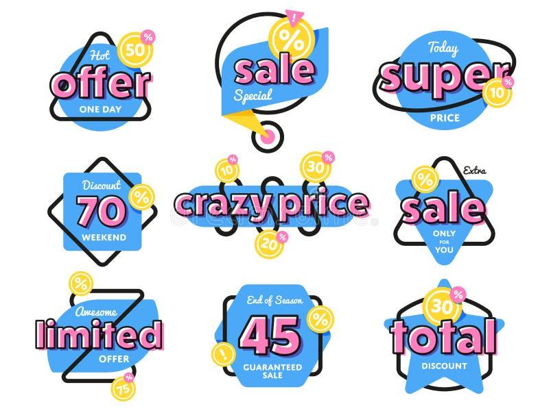Símbolo do disconto da etiqueta da venda da oferta especial ilustração royalty free