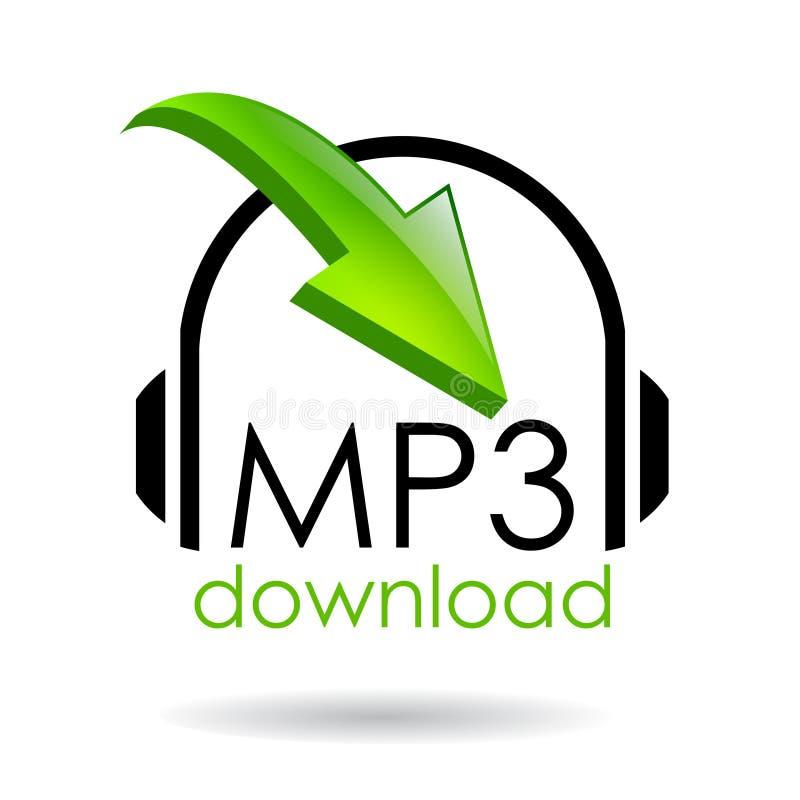 Símbolo do download Mp3 ilustração stock