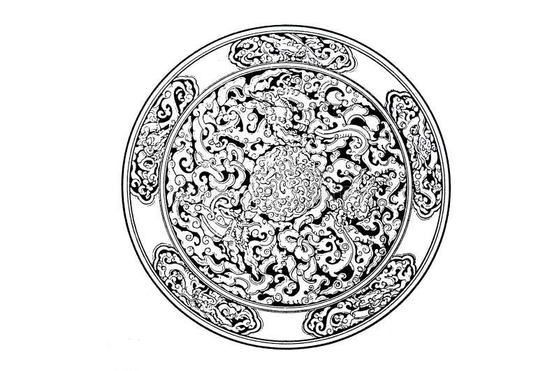 Símbolo do dragão imagens de stock royalty free