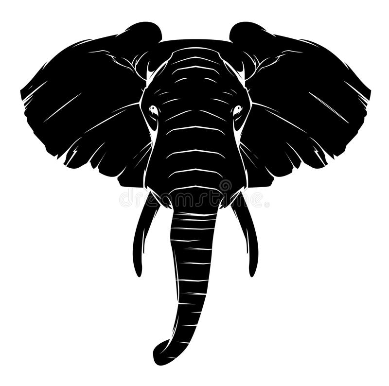 Símbolo do elefante da tatuagem ilustração stock