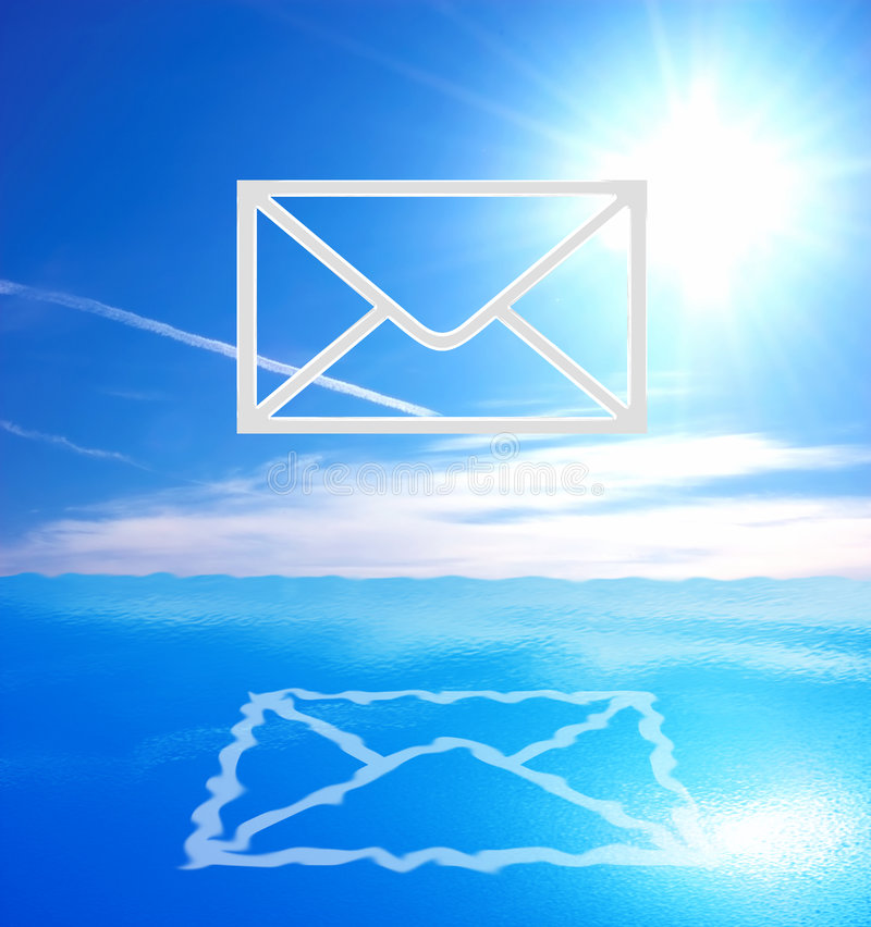 Símbolo do email foto de stock royalty free
