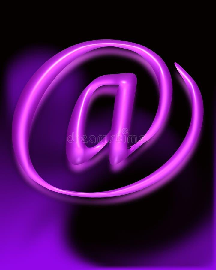 Símbolo do email ilustração stock