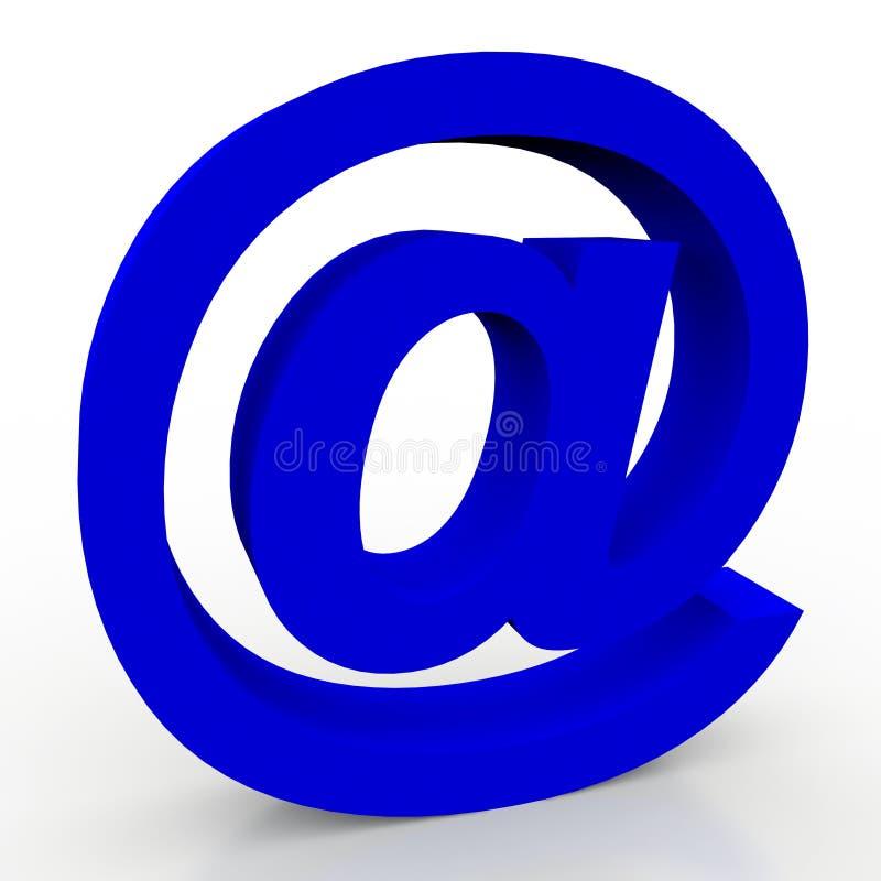 símbolo do email 3d ilustração royalty free