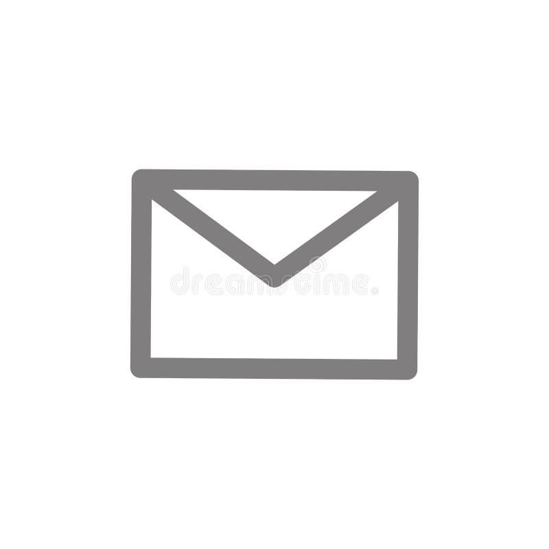 Símbolo do email ou do correio ilustração do vetor