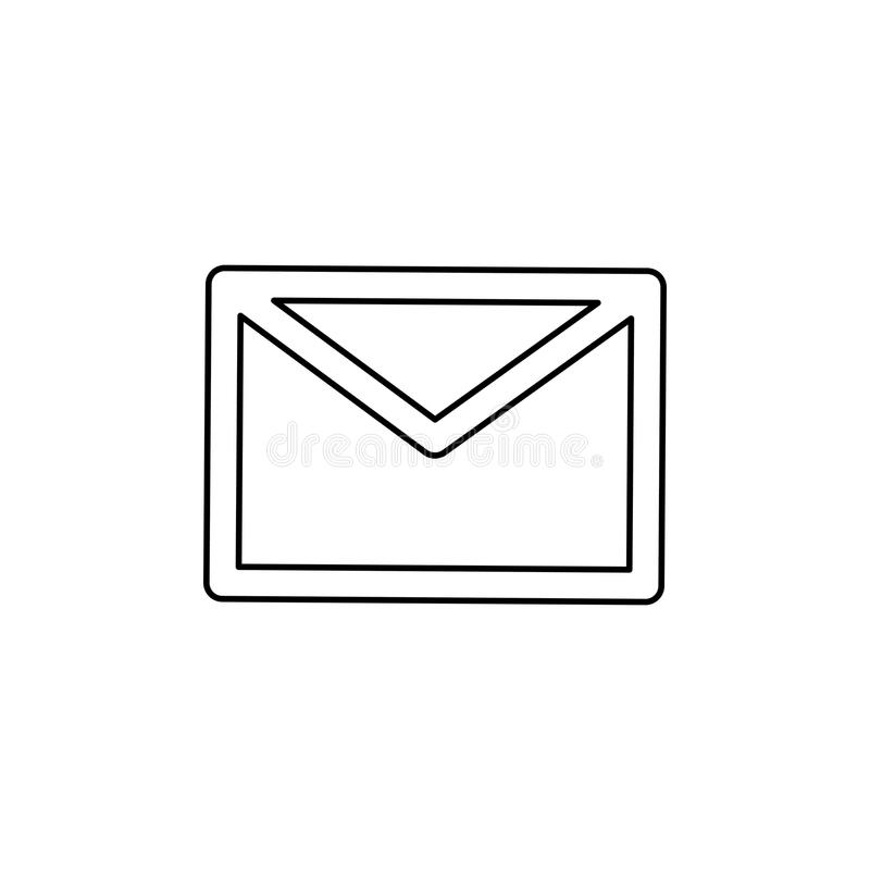 Símbolo do email ou do correio ilustração royalty free