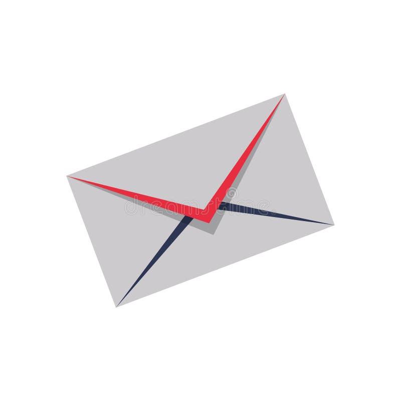 Símbolo do email ou do correio ilustração stock