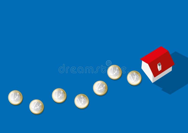 Símbolo do empréstimo hipotecário para a compra de um hous ilustração royalty free