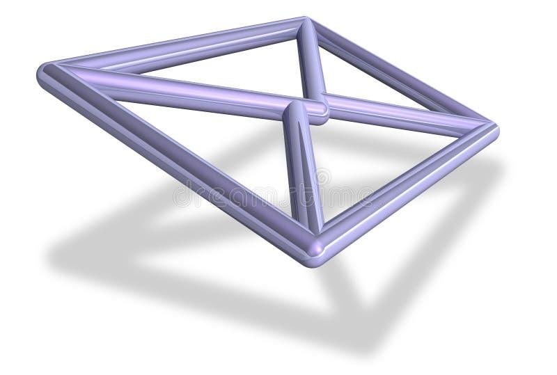 símbolo do envelope do email 3D ilustração do vetor