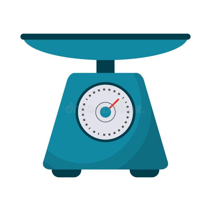 Símbolo do equilíbrio da escala do alimento ilustração do vetor