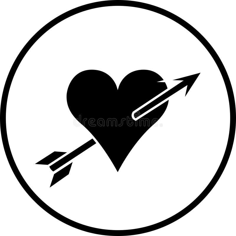 Símbolo do esmagamento do amor ilustração royalty free