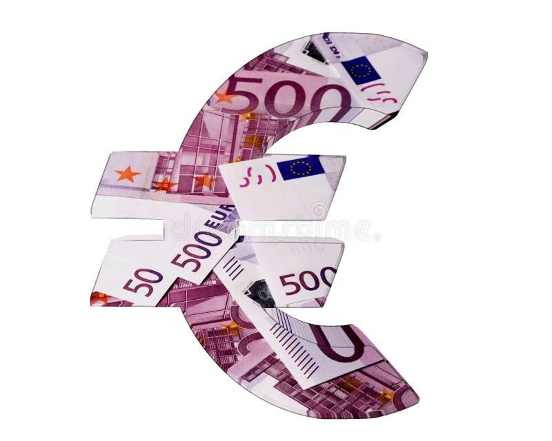 Símbolo do Euro em um fundo branco ilustração do vetor