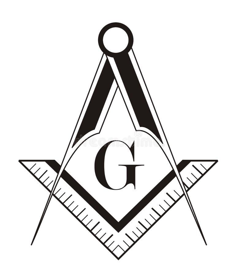 Símbolo do Freemason ilustração do vetor