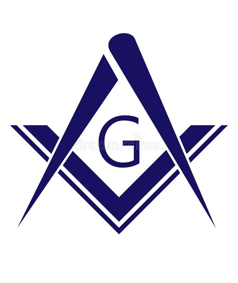 símbolo do freemason ilustração royalty free