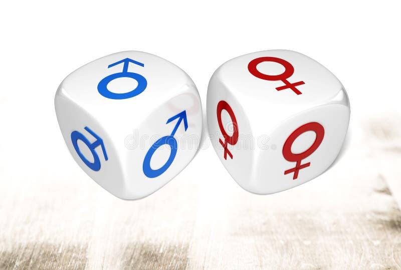 Símbolo do género ilustração do vetor