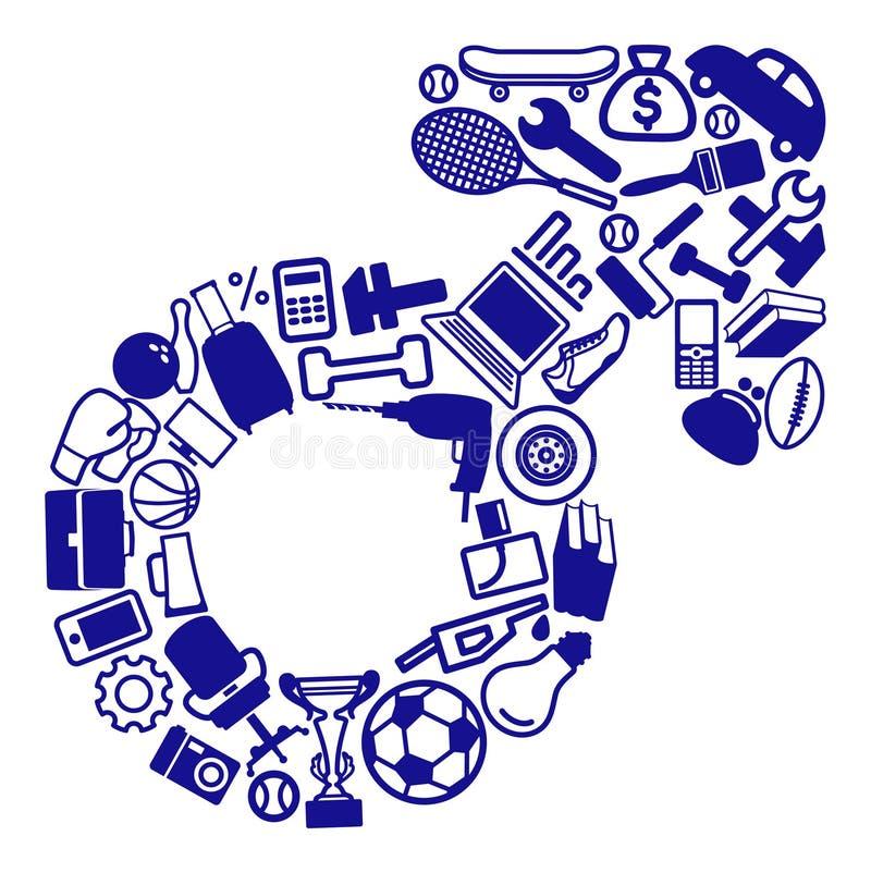 Símbolo do género do homem ilustração do vetor