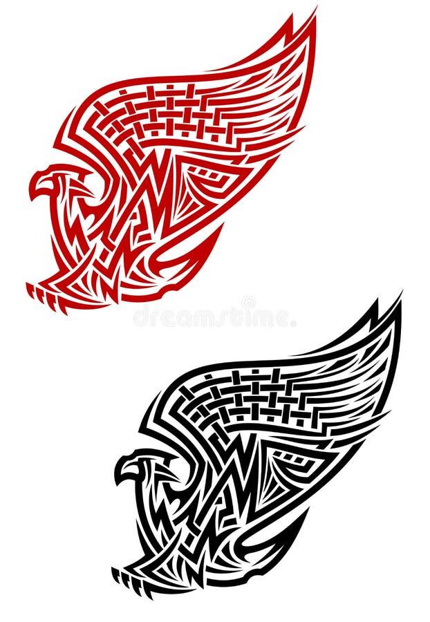 Símbolo do grifo em de estilo celta ilustração royalty free