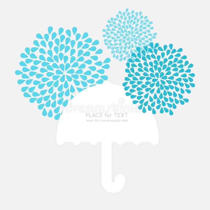 Símbolo do guarda-chuva do vetor com bloco de texto ilustração do vetor