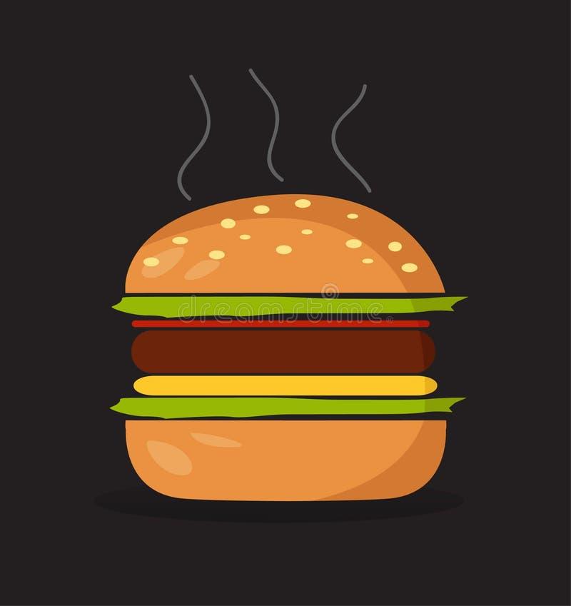 Símbolo do Hamburger ilustração royalty free
