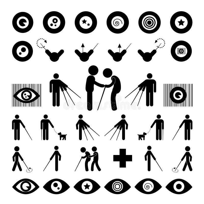 Símbolo do homem cego ilustração stock
