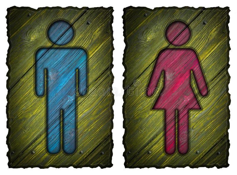 Símbolo do homem e da mulher ilustração stock