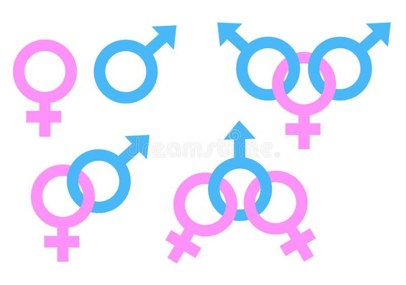 Símbolo do homem e da mulher, ilustração conservada em estoque do vetor ilustração royalty free