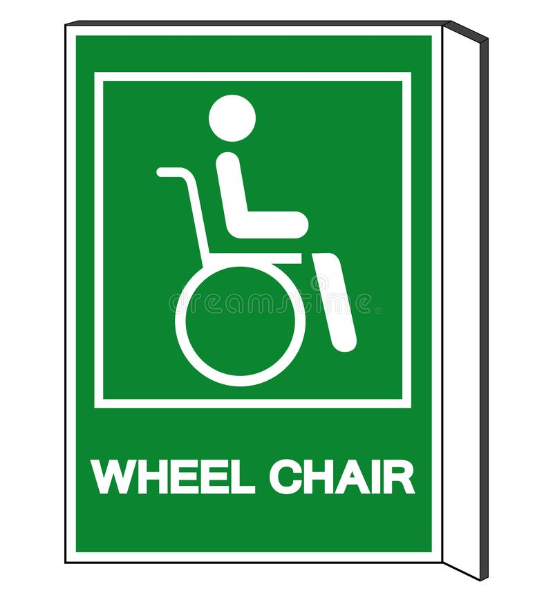 Símbolo do hospital da cadeira de roda, ilustração do vetor, isolado na etiqueta branca do fundo EPS10 ilustração stock