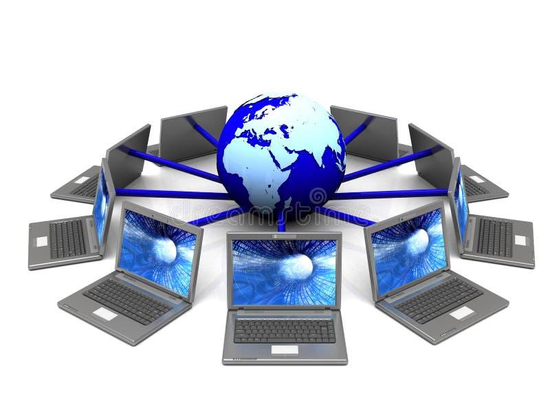 Símbolo do Internet ilustração royalty free