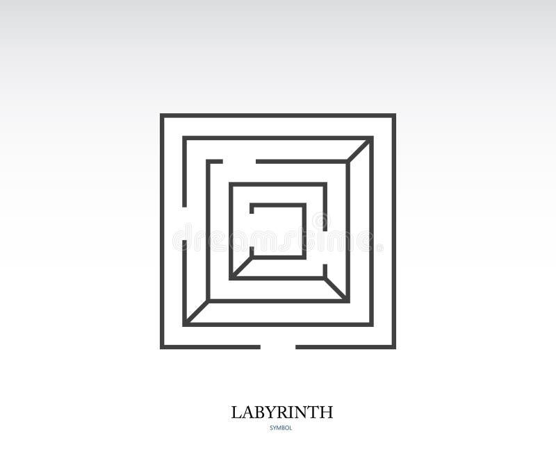 Símbolo do labirinto ilustração royalty free