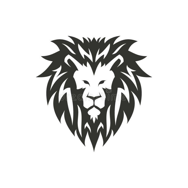 Símbolo do leão, logotipo ou conceito da tatuagem ilustração stock
