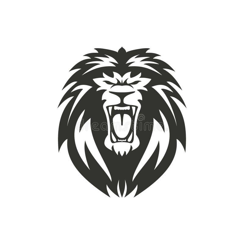Símbolo do leão ou ilustração do sinal no fundo branco ilustração royalty free