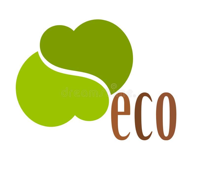 Símbolo do logotipo de Eco ilustração royalty free