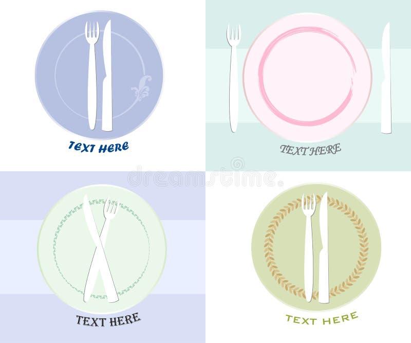 Símbolo do logotipo do projeto do menu ilustração royalty free