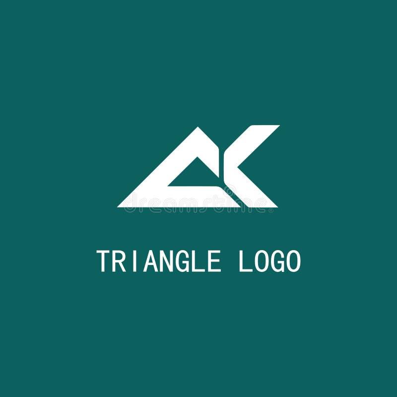 Símbolo do logotipo do triângulo ilustração stock