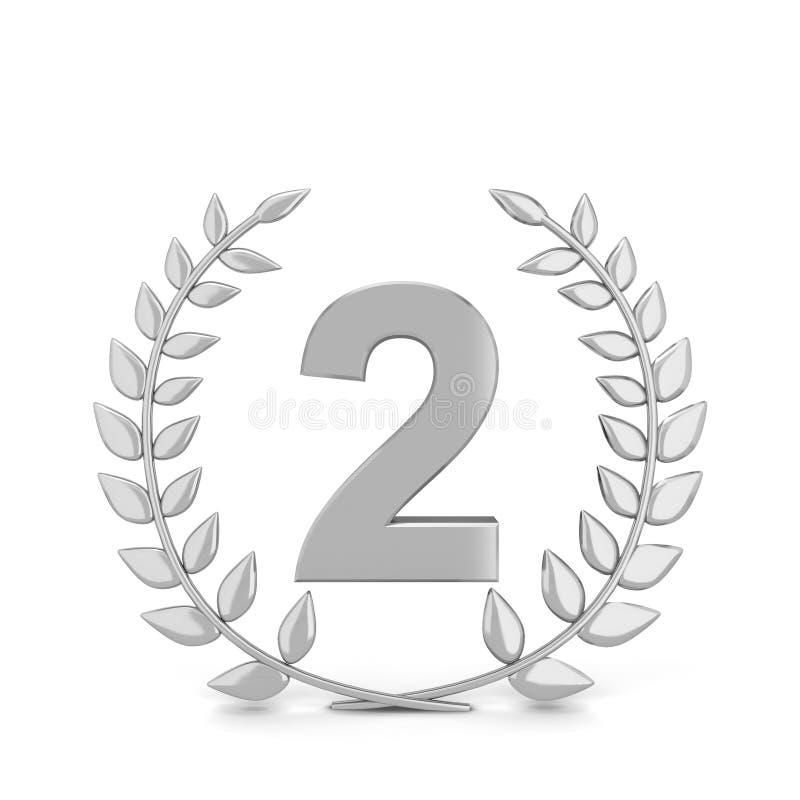 Símbolo do louro do vencedor ilustração do vetor
