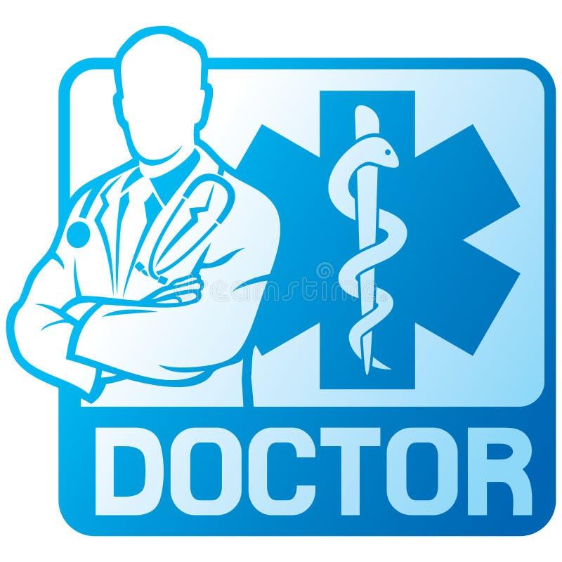 Símbolo do médico ilustração royalty free