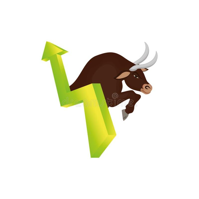 Símbolo do mercado de valores de ação de Bull ilustração royalty free
