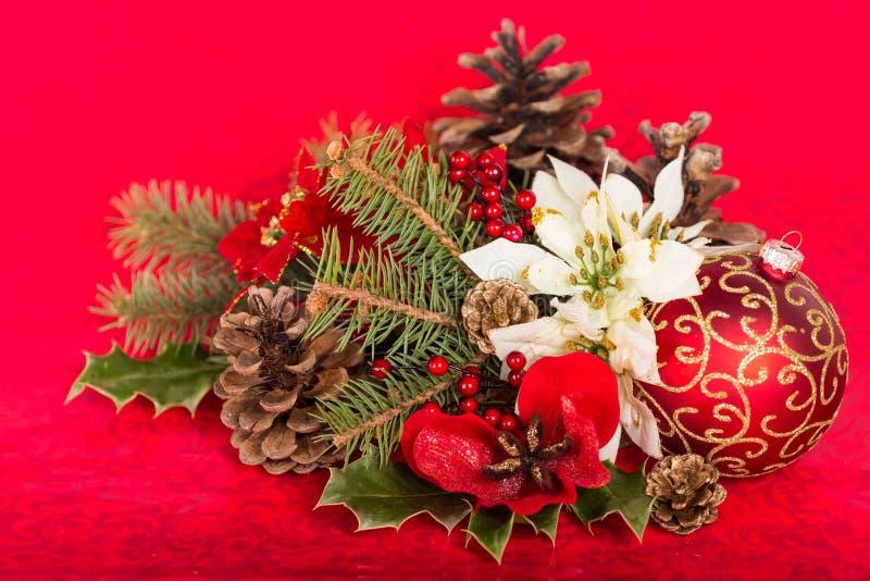 Símbolo do Natal, decoração de ramos do abeto e fotos de stock