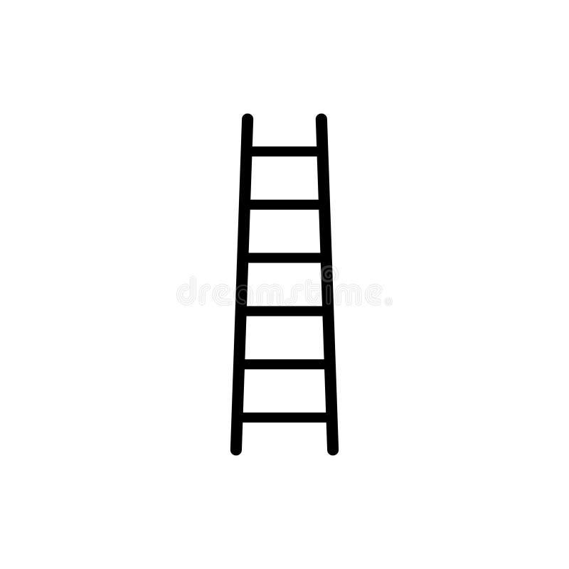 S?mbolo do neg?cio do vetor do ?cone da escada para o projeto gr?fico, logotipo, site, meio social, app m?vel, ilustra??o do ui ilustração royalty free
