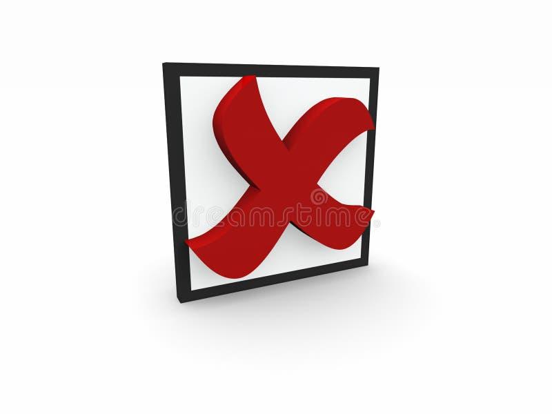 símbolo do negativo 3d ilustração do vetor