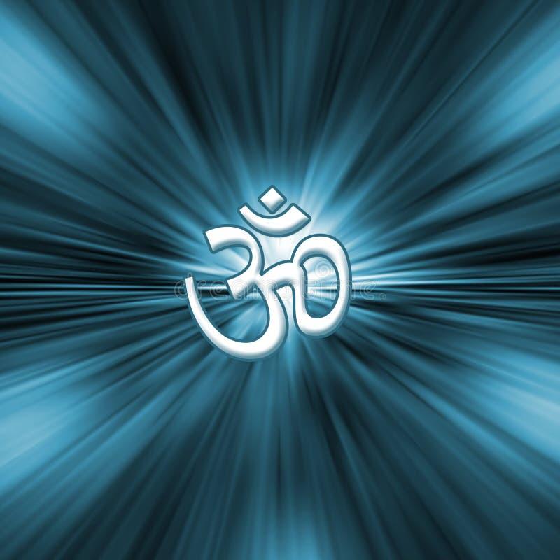 Símbolo do OM - ioga ilustração royalty free