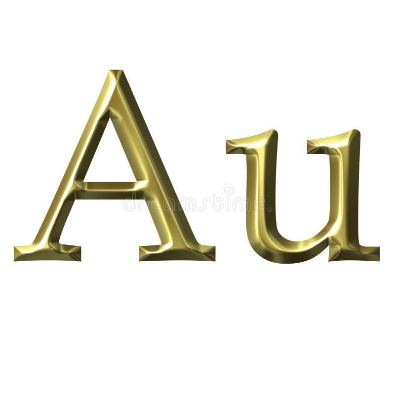 Símbolo do ouro ilustração royalty free