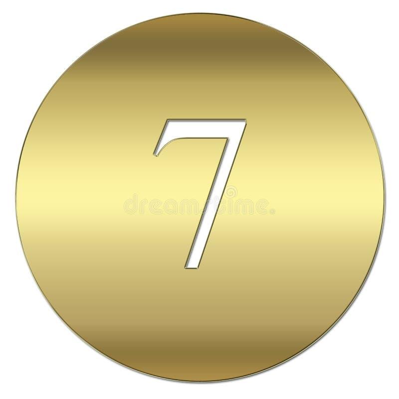 Símbolo do ouro ilustração stock