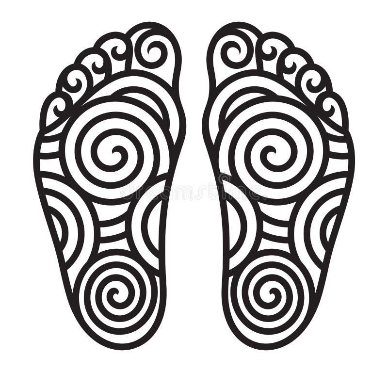 Símbolo do pé ilustração stock
