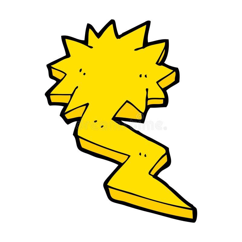 símbolo do parafuso de relâmpago dos desenhos animados ilustração royalty free